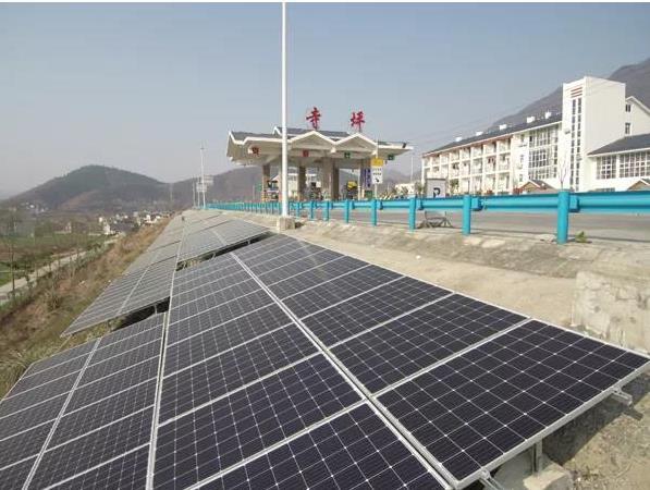 高速公路光伏发电项目是以绿色发展为理念,充分利用高速公路图片